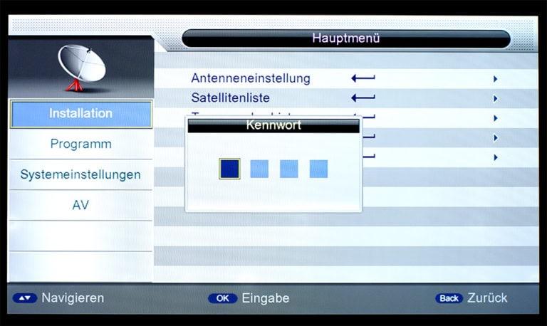 Triax S-HD 11 unicable Einstellungen 2