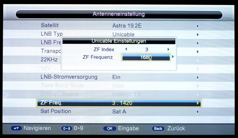 Triax S-HD 11 unicable Einstellungen 5