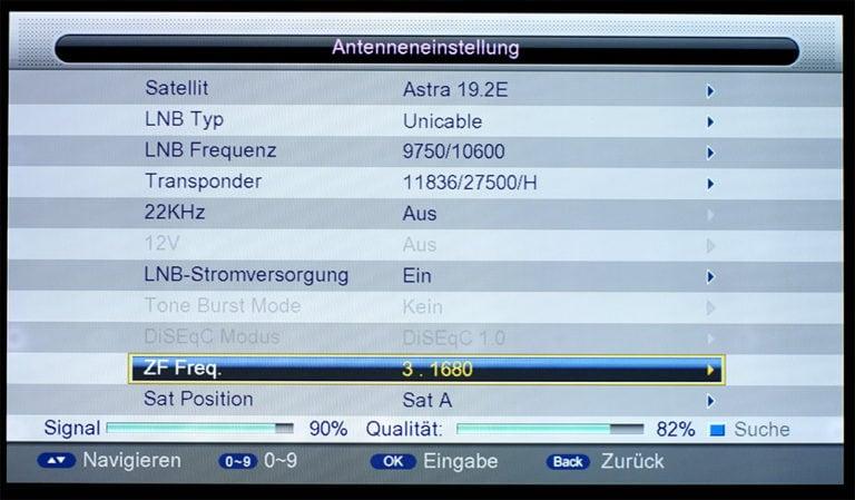 Triax S-HD 11 unicable Einstellungen 7