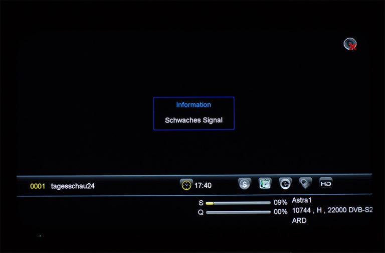 Megasat HD 601 V2 unicable Einstellungen 1