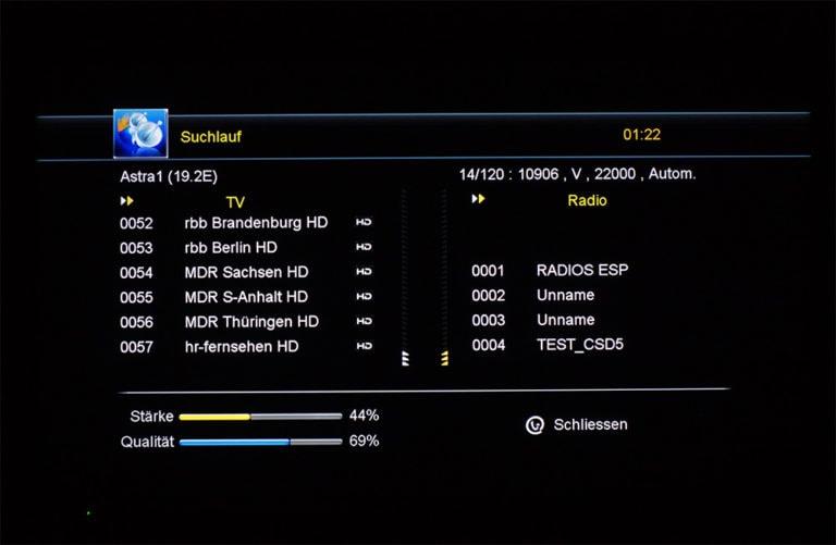 Megasat HD 601 V2 unicable Einstellungen 5