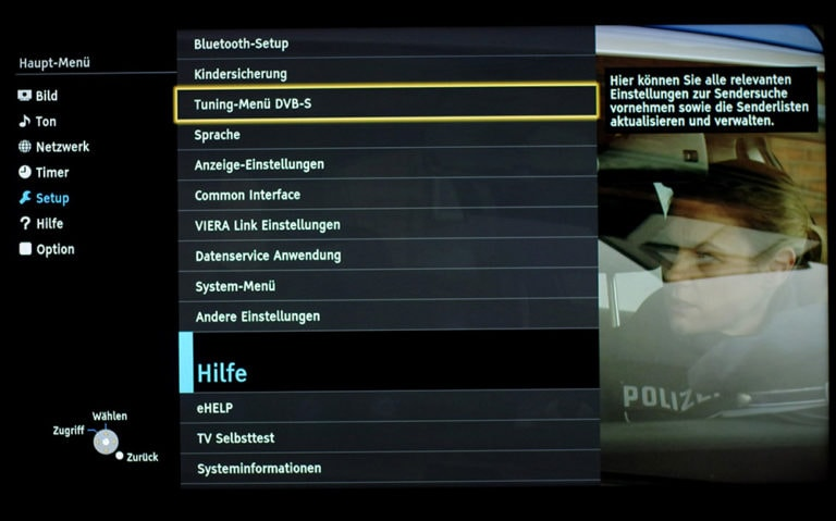 Panasonic TV Dual-Tuner unicable Einstellungen 1