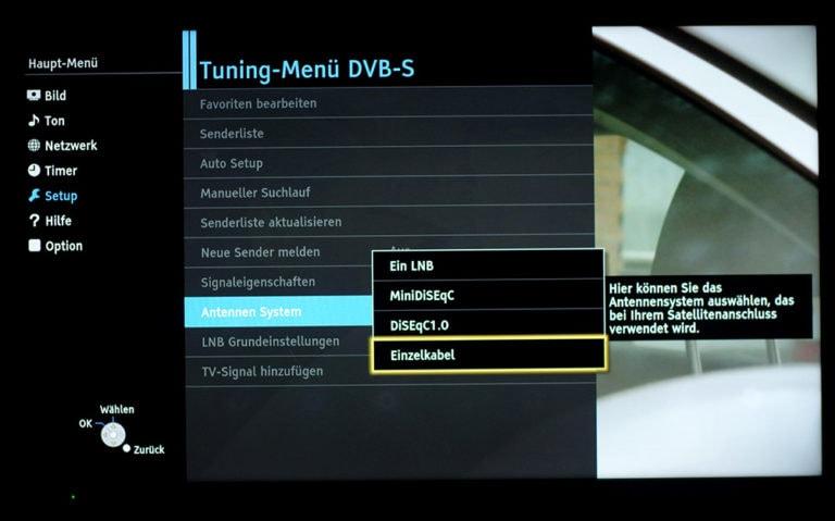 Panasonic TV Dual-Tuner unicable Einstellungen 2