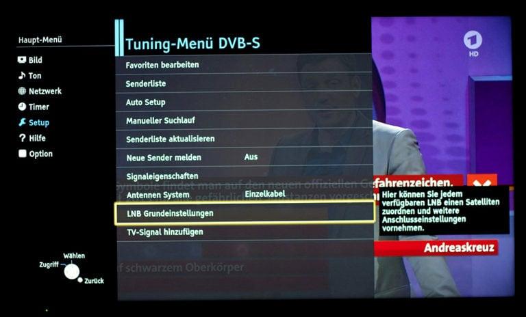 Panasonic TV Dual-Tuner unicable Einstellungen 3