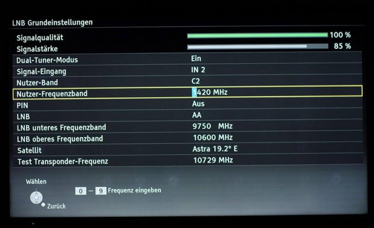 Panasonic TV Dual-Tuner unicable Einstellungen 5
