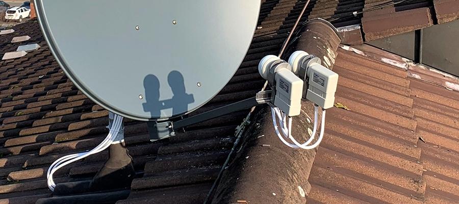 Sat-Schüssel mit Wideband-LNB